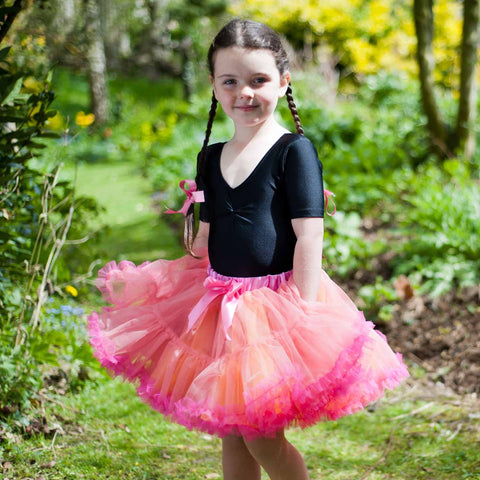 Children's Frothy Tutu - Orange and Cerise