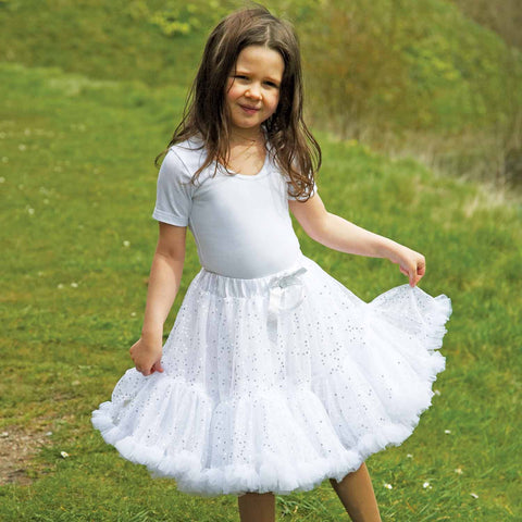 Children's Frothy Tutu - Silver Sequin