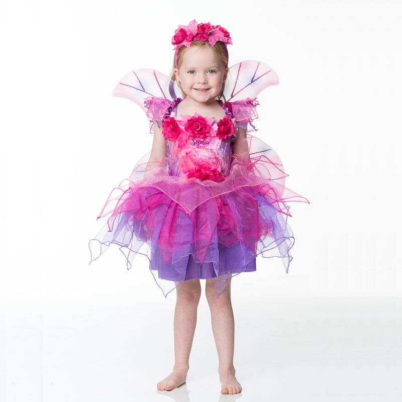 Children's Fuchsia Fairy Dress - Personalised