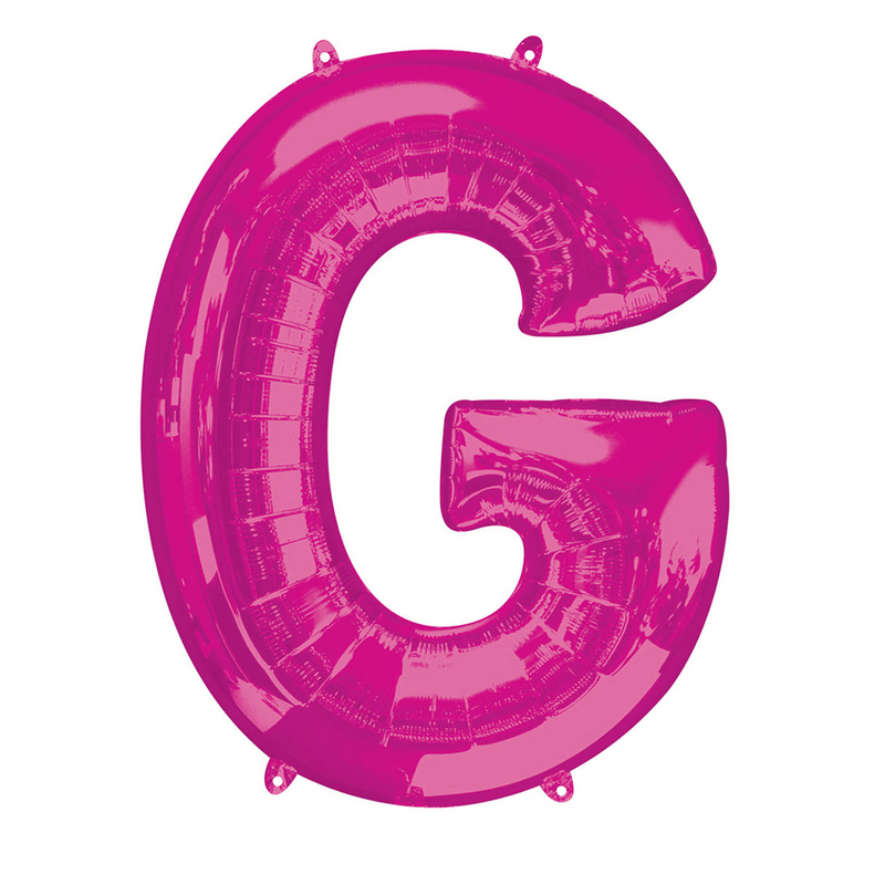 Pink Foil Balloon Letters-16 inch/40 cm - Air Filled