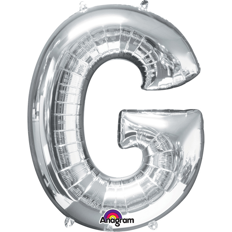 Giant Silver Foil Balloon Letters-34 inch- Helium Filled
