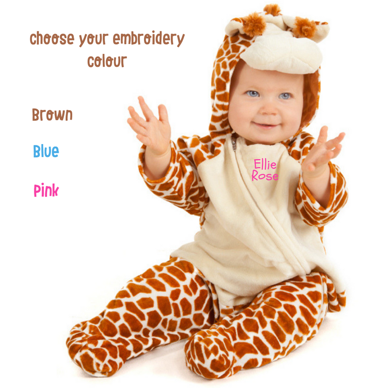 Personalised Baby Giraffe Costume