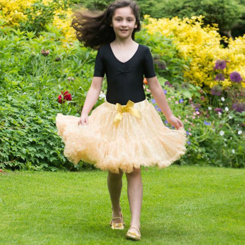 Children's Gold Sequin Frothy Tutu