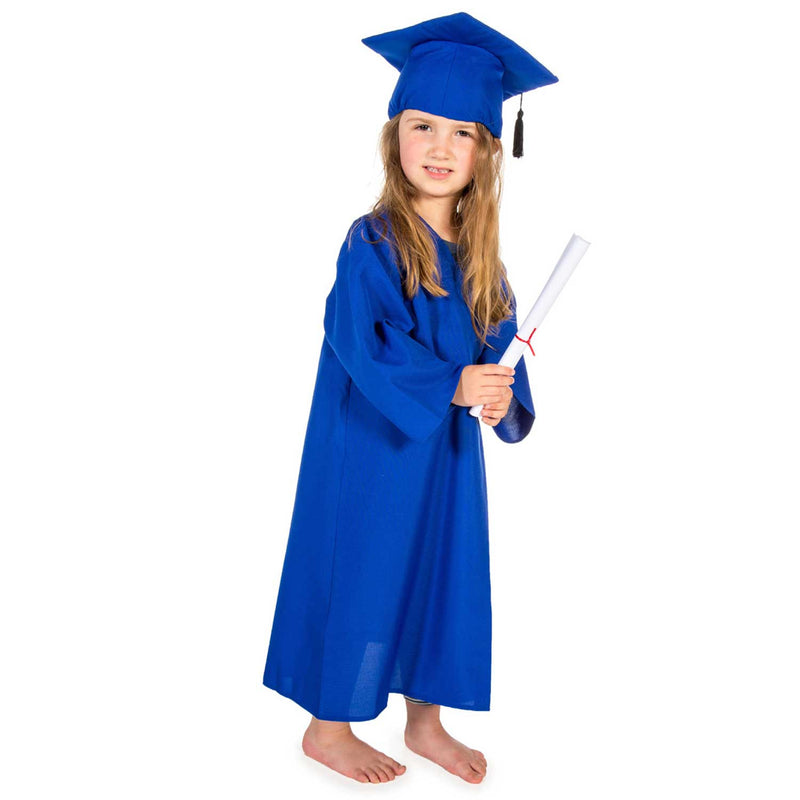 Children's Graduation Gown -Children's Costume -Gown with Mortar Board -Blue 1