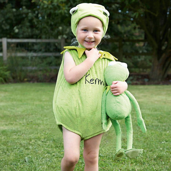 Kermit the Frog Baby Fancy Dress Costume - Official Disney , Baby Costume - Time to Dress Up, Ayshea Elliott  - 1