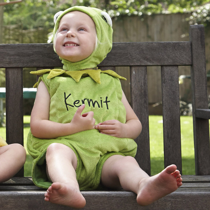 Kermit the Frog Baby Fancy Dress Costume - Official Disney , Baby Costume - Time to Dress Up, Ayshea Elliott  - 3