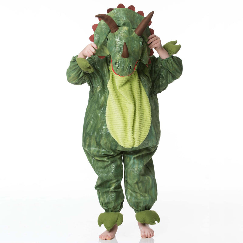 Children's Triceratops Dress Up , Dinosaur Costume, Children's Costume - Time to Dress Up, Ayshea Elliott - 1