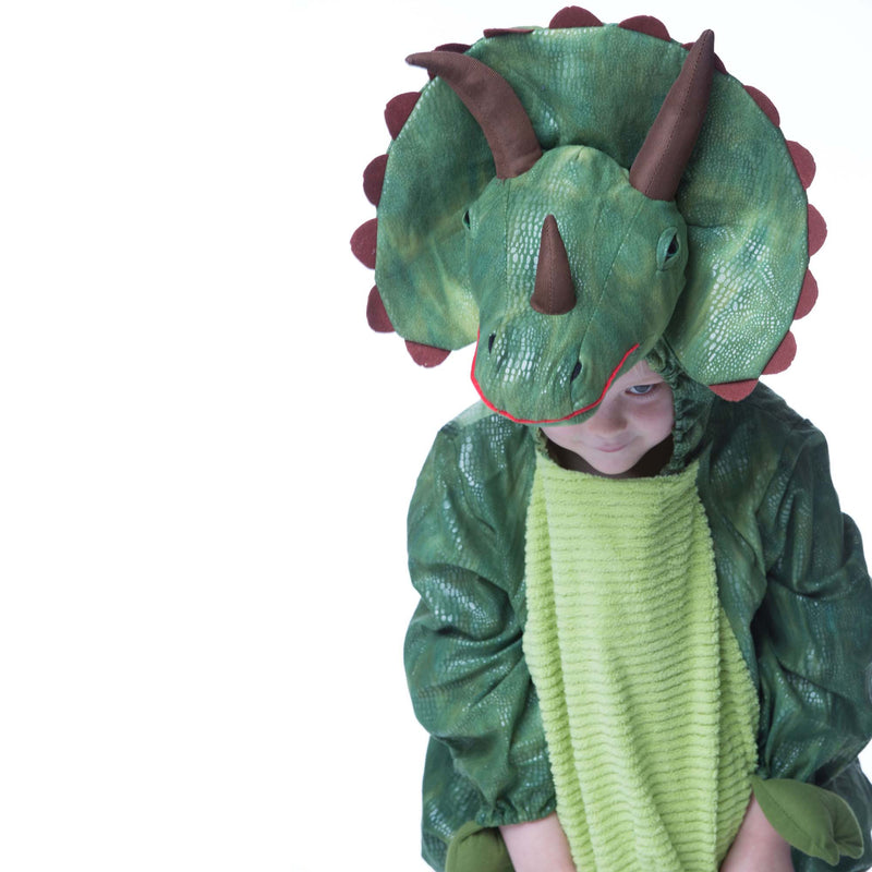 Children's Triceratops Dress Up , Dinosaur Costume, Children's Costume - Time to Dress Up, Ayshea Elliott - 2