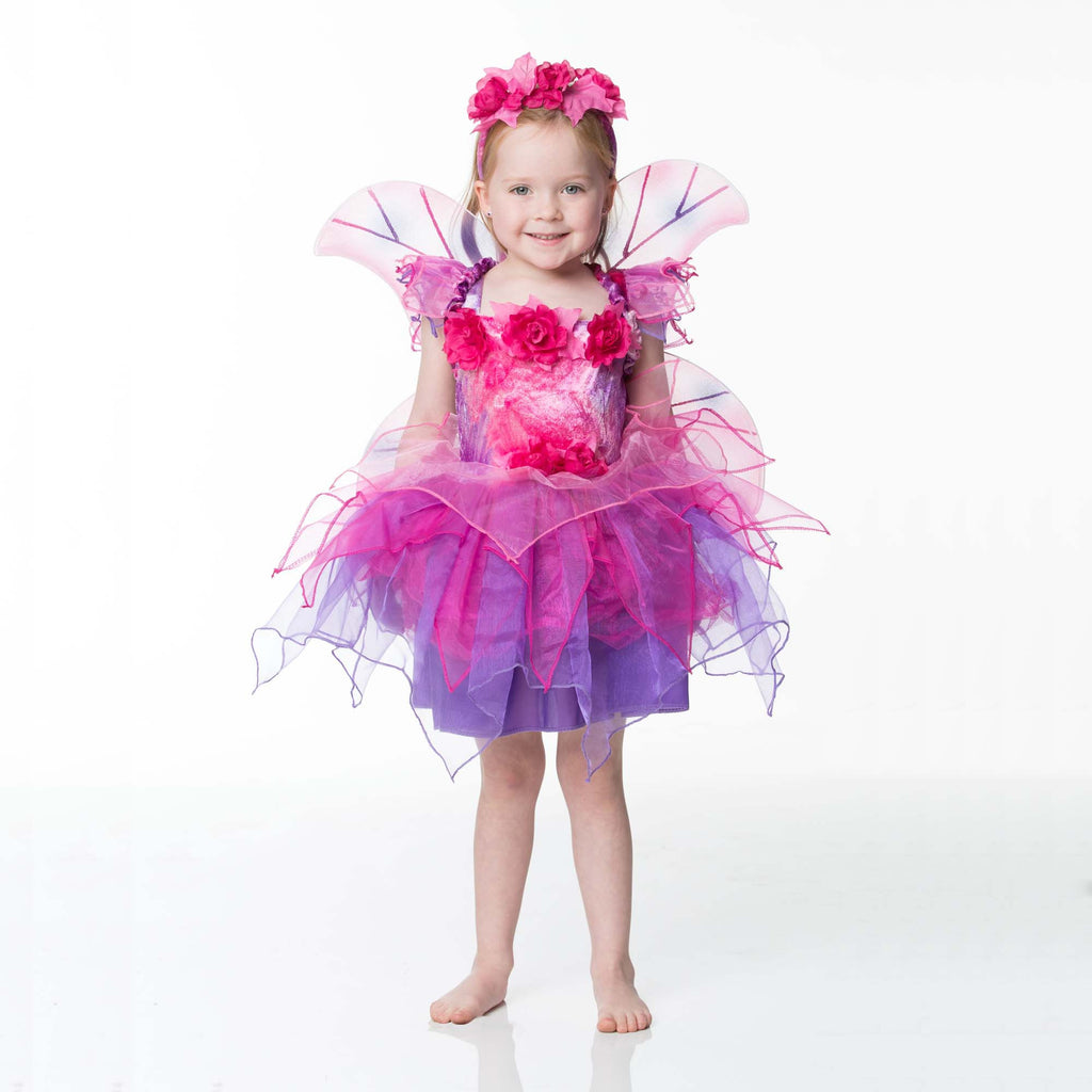 children 39 s fuchsia fairy dress up time to dress up. Black Bedroom Furniture Sets. Home Design Ideas