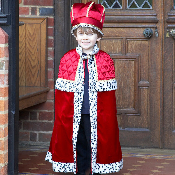 Children's King With Crown Dress Up Costume , Children's Costume - Children's Costume, Ayshea Elliott  - 1