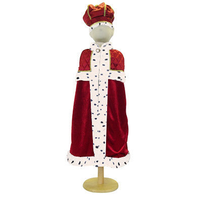 Children's King With Crown Dress Up Costume , Children's Costume - Children's Costume, Ayshea Elliott  - 2