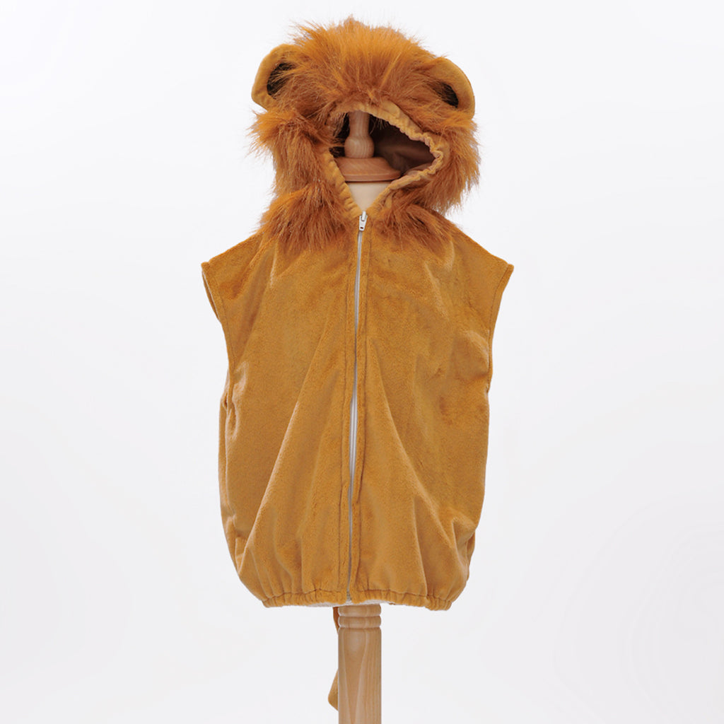 Children's Lion Fancy Dress Zip Top-Lion Costume - Pretend to Bee -1