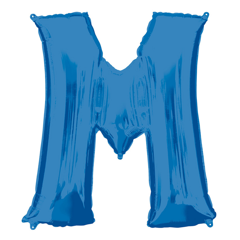 Giant Blue Foil Balloon Letters-34 inch - Helium Filled