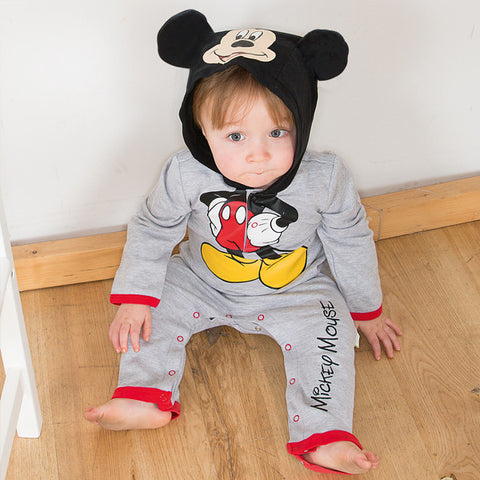 Mickey Mouse Baby Bodysuit With Hood - Official Disney