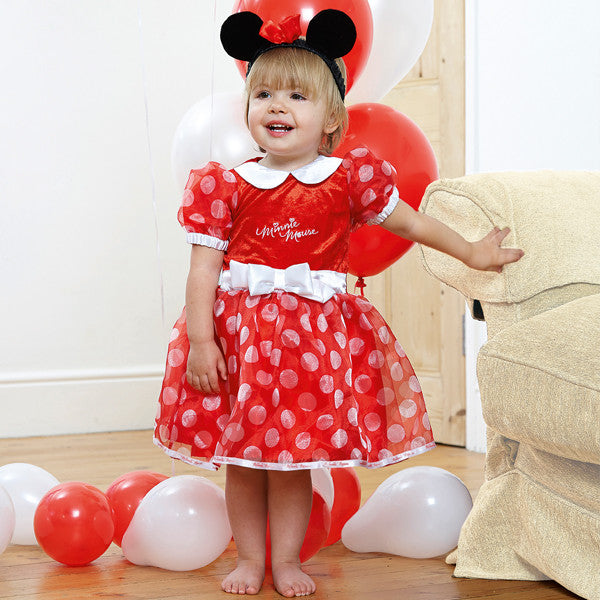Minnie Mouse Baby Fancy Dress Costume - Official Disney , Baby Costume - Disney Baby, Ayshea Elliott  - 1