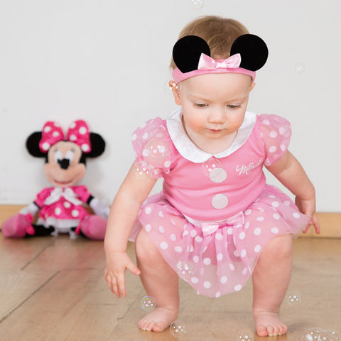 Minnie Mouse Baby Bodysuit with Hat - Official Disney