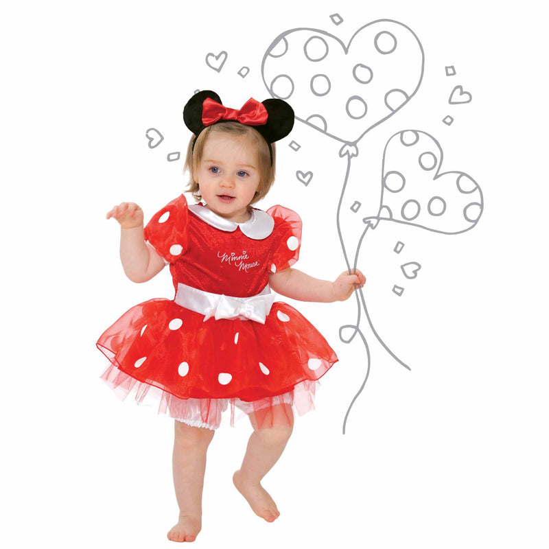 Minnie Mouse Baby Fancy Dress Costume - Official Disney , Baby Costume - Disney Baby, Ayshea Elliott  - 2