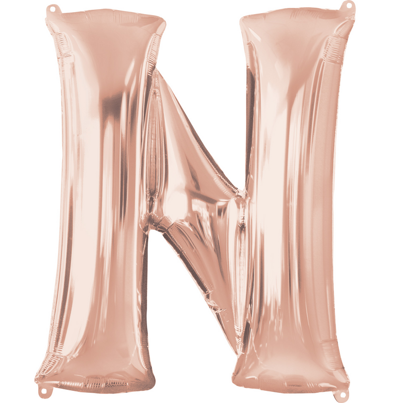 Rose Gold Foil Balloon Letters-16 inch/40 cm - Air Filled