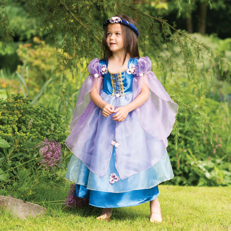 Children's Blue Orchid Flower Dress, Girl's Dress Up -Children's Costume, Travis 2