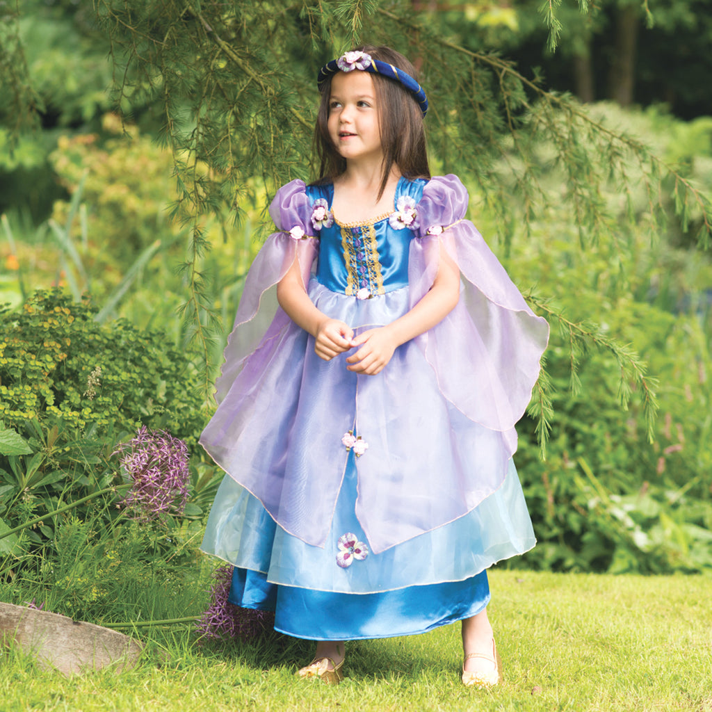 Children's Blue Orchid Flower Dress, Girl's Dress Up -Children's Costume, Travis