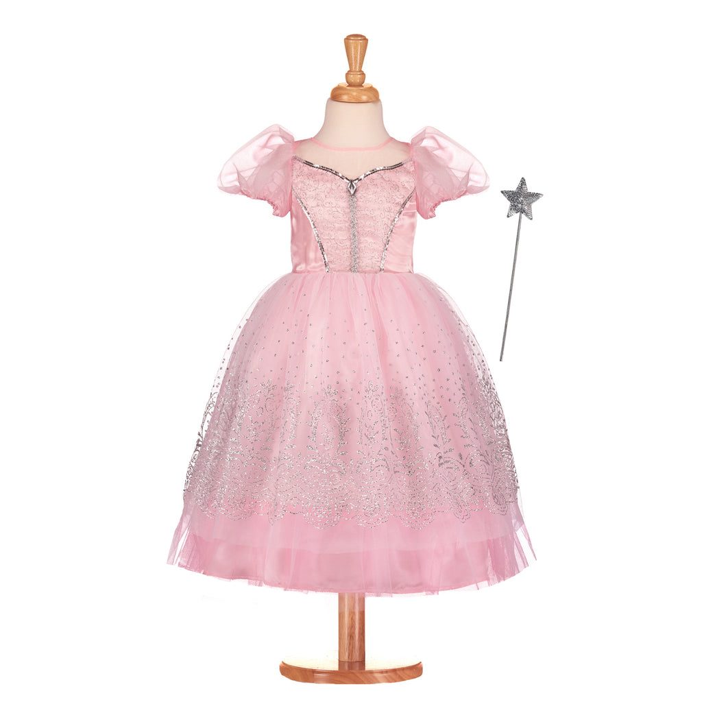 Pink Glitter Princess Dress, Children's Costume - Travis Designs -1