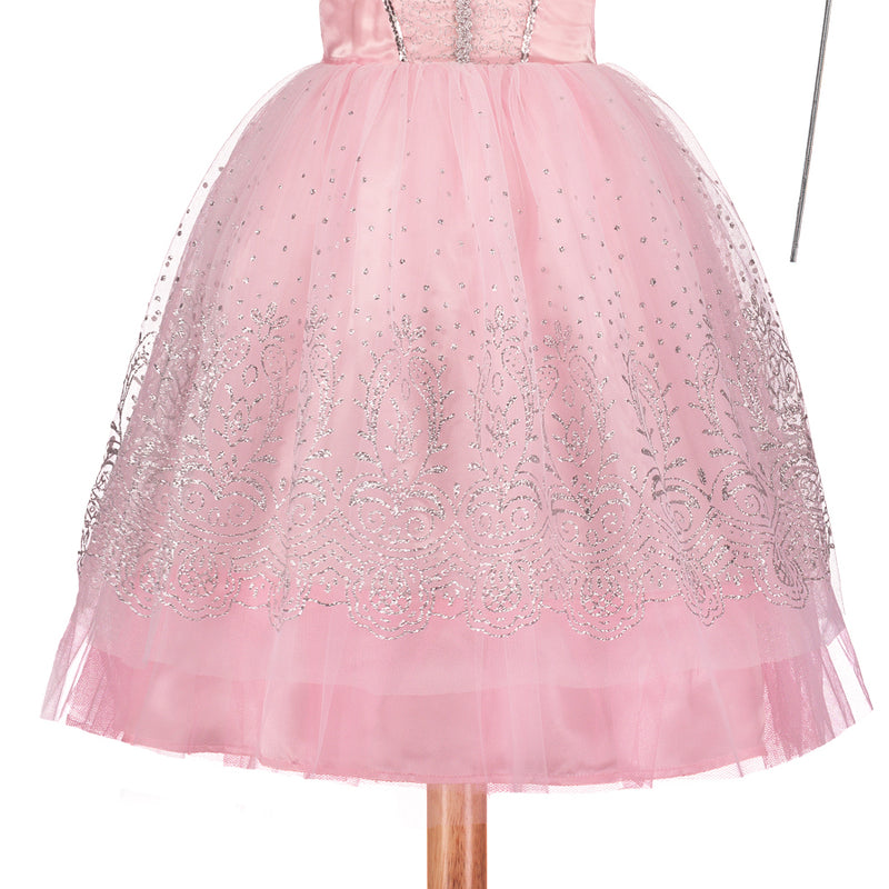 Pink Glitter Princess Dress, Children's Costume - Travis Designs -3