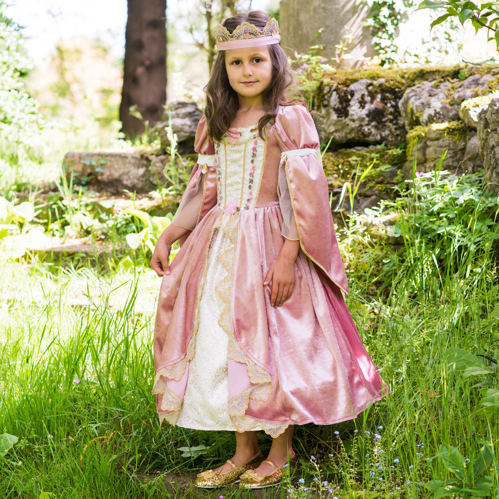 Regal Princess Dress with Crown