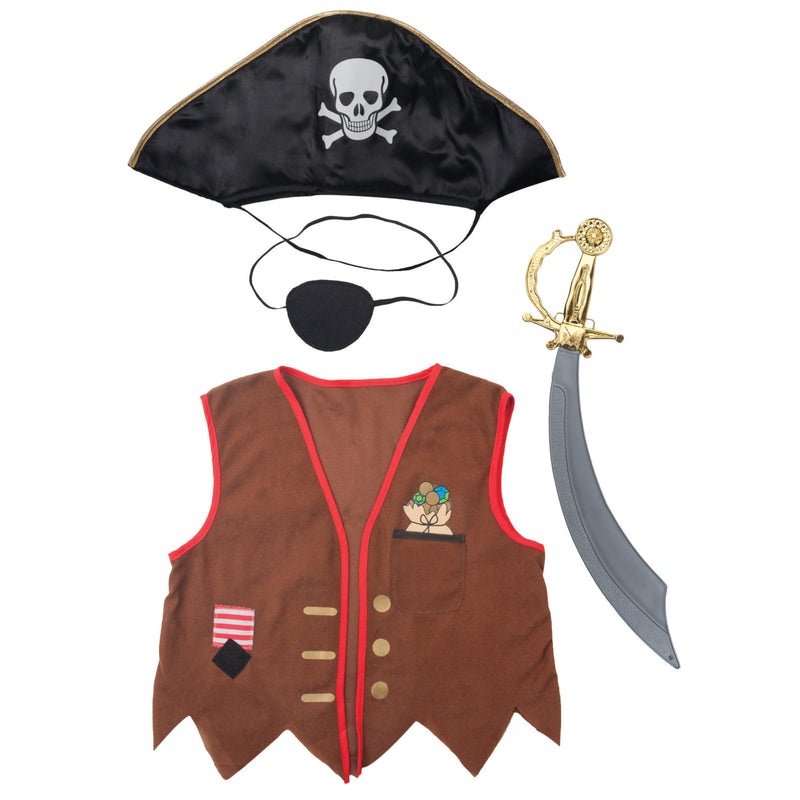 Kids Pirate Costume , Children's Costume - Time to Dress Up -2