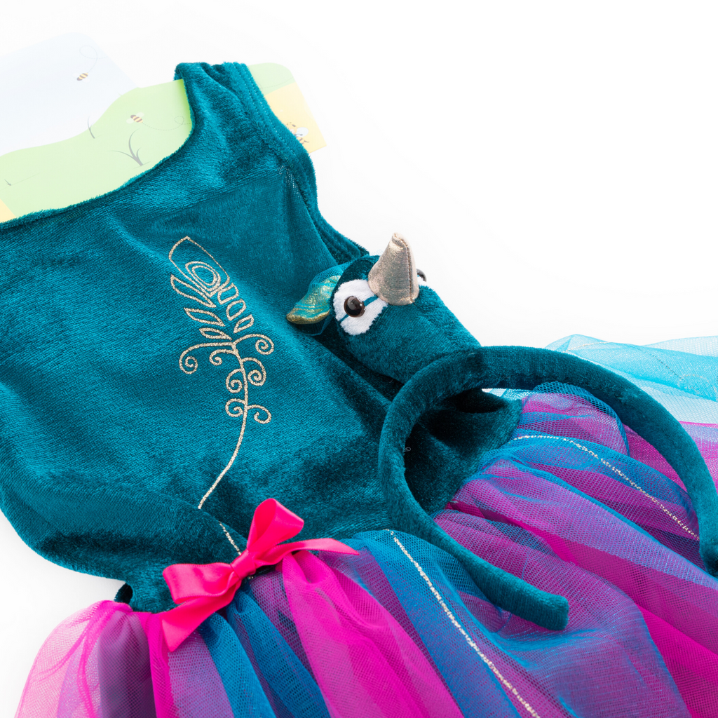 Children's Peacock Tutu Dress with Headband