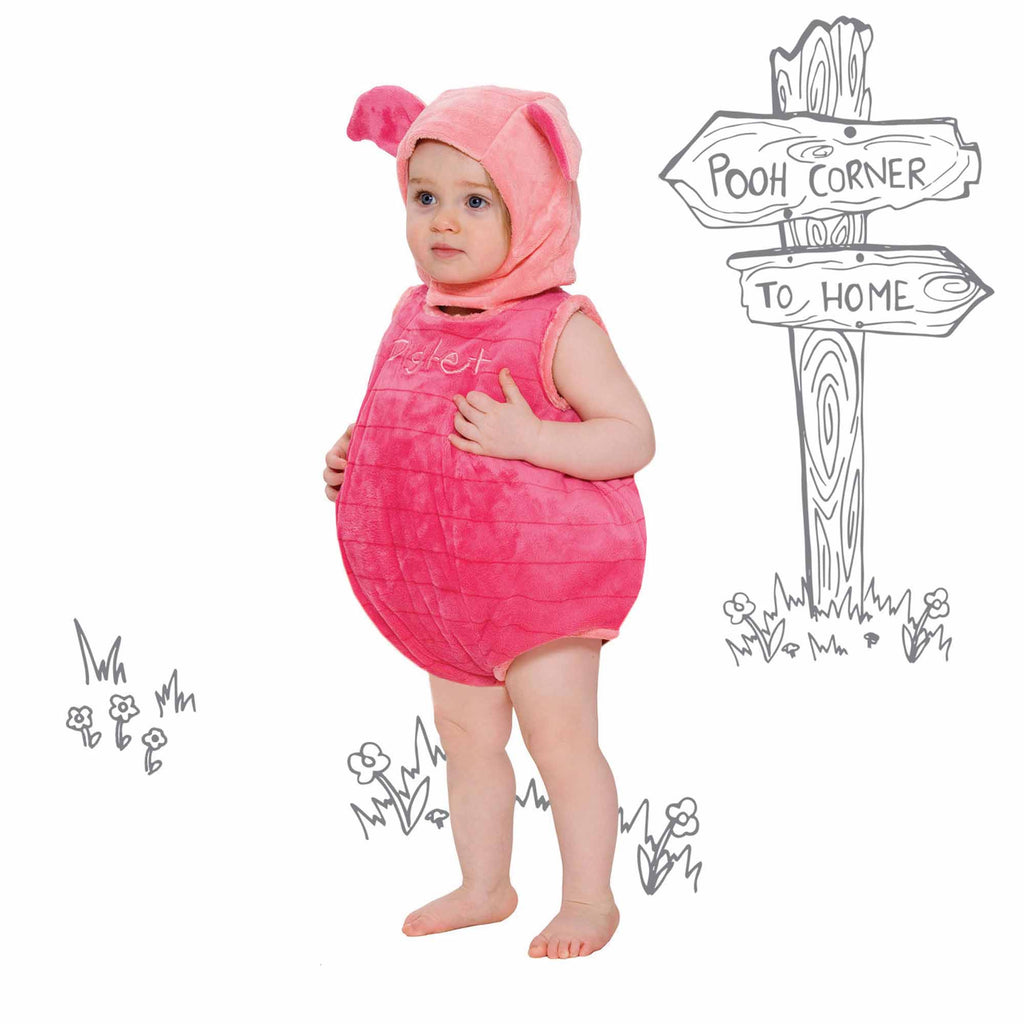 Piglet Baby Fancy Dress Costume - Official Disney , Baby Costume - Disney Baby, Ayshea Elliott  - 1