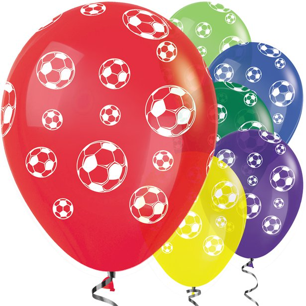 Football Mix - Pk 25 Assorted Balloons - 11 inch