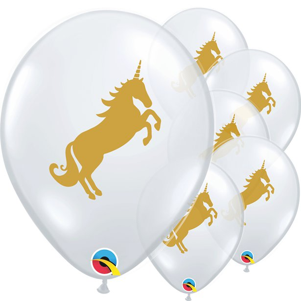 Golden Unicorn- Pk 25 Assorted Balloons -11 inch