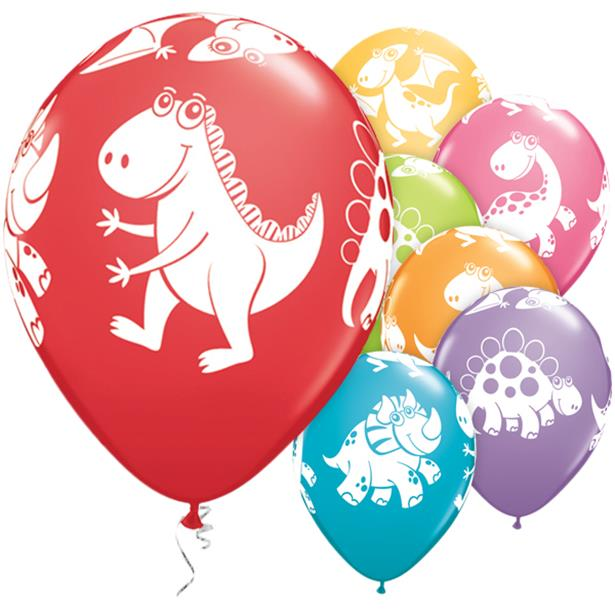 Cute Dinosaurs- Pk 25 Assorted Balloons - 11 inch