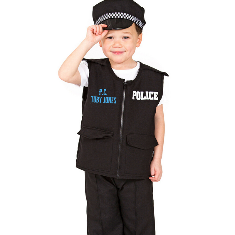 Personalised Children's Police Officer Costume