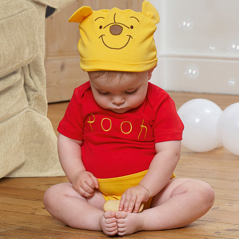 Winnie the Pooh Baby Jersey Bodysuit with Hat - Official Disney