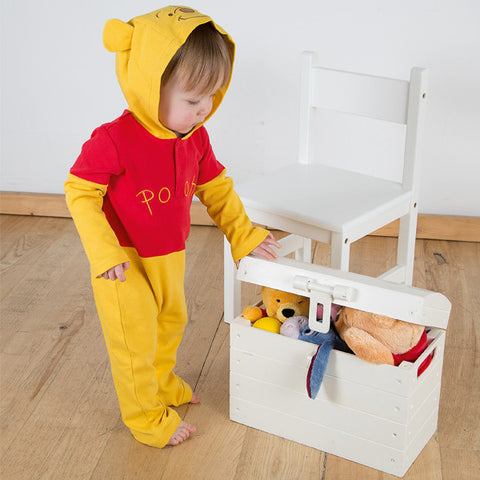 Winnie the Pooh Baby Jersey Romper with Hood - Official Disney