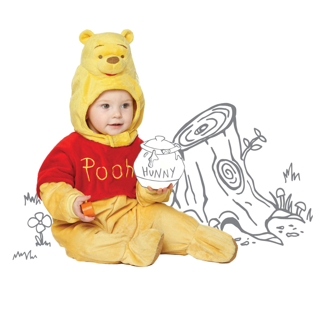 Winnie the Pooh Baby Costume with Moulded Hood , Baby Costume - Disney Baby, Ayshea Elliott  - 2