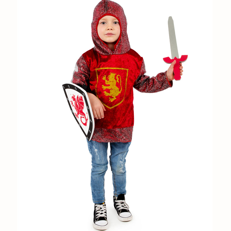 Crusader Knight -Red- -Kids Knight Costume -Time to Dress up