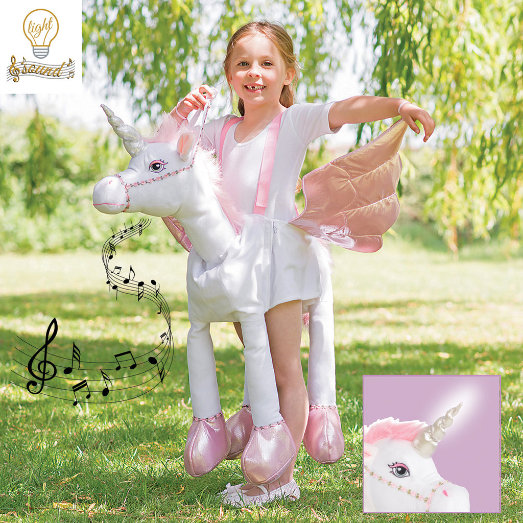 Ride On Unicorn Costume , Children's Costume - Time to Dress Up