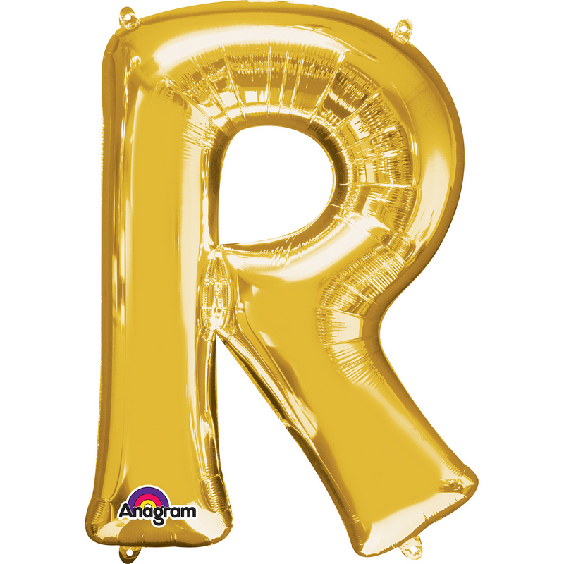 Gold Foil Balloon Letters-16 inch/40 cm - Air Filled