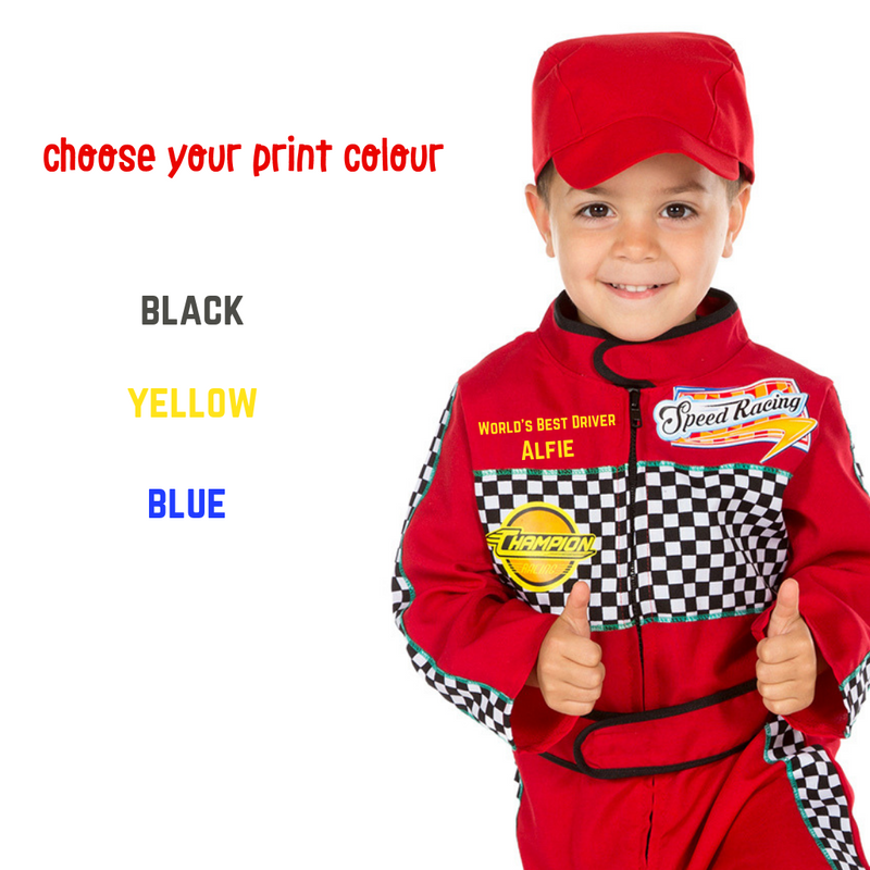 Racing Driver Costume - personalised