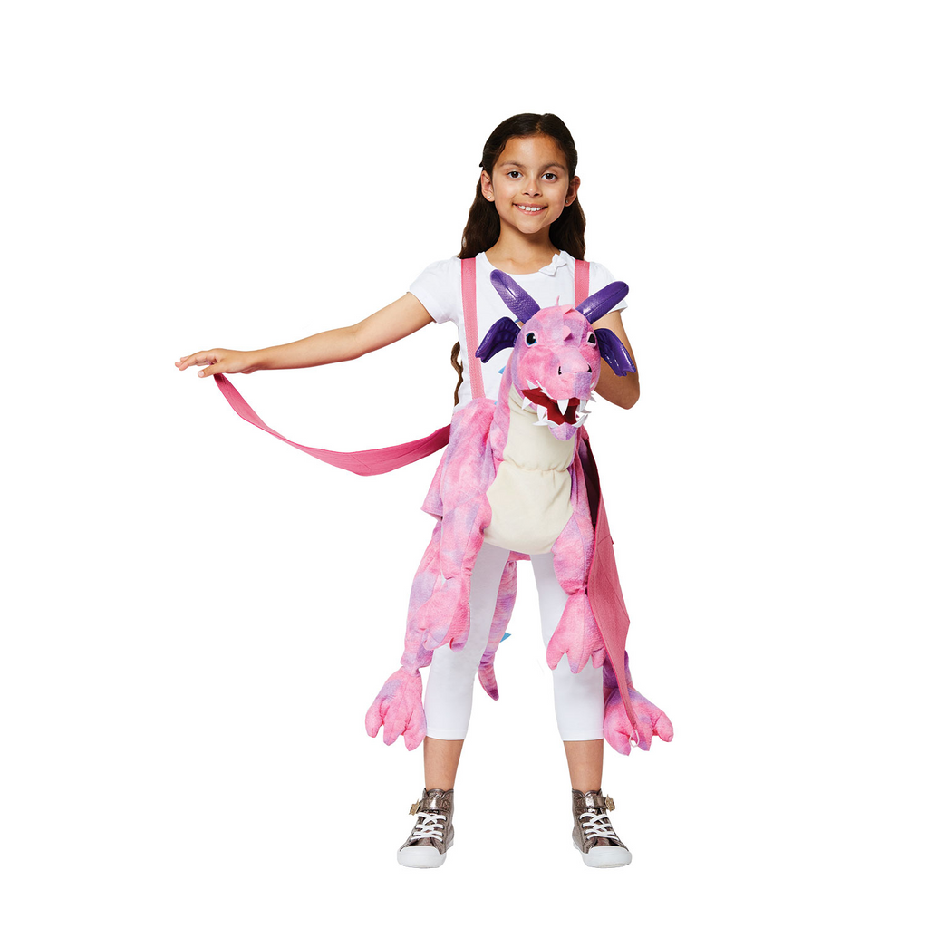 Ride on Pink Dragon - Ride on Dragon - Children's Costume - Time to Dress Up -1
