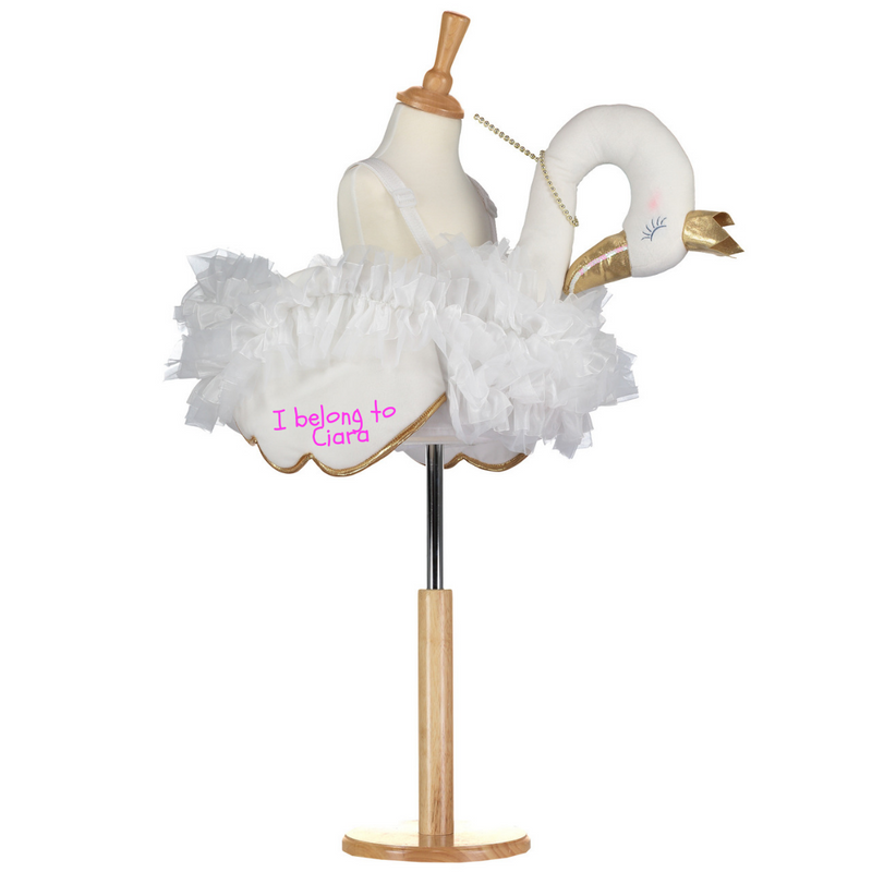 Children's Ride On Glide On Swan Costume- Personalised