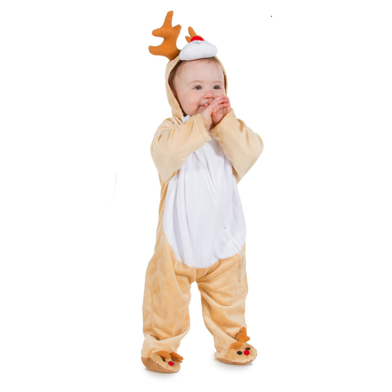 Rudolph Reindeer Fancy Dress Costume , Baby Costume