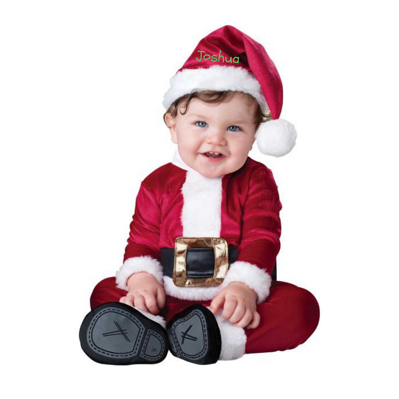 Personalised Santa Baby Fancy Dress Costume