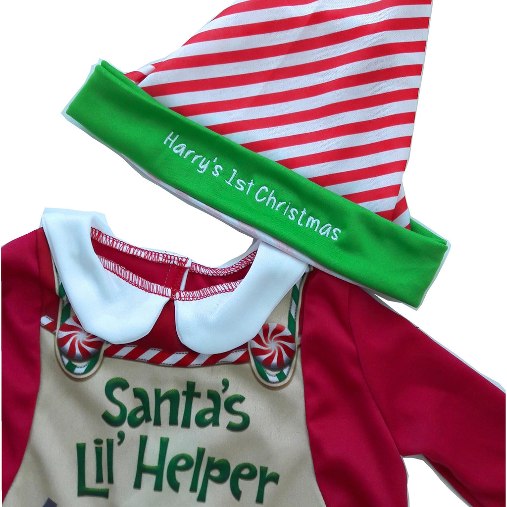 Personalised Santa's Elf Baby Fancy Dress Costume