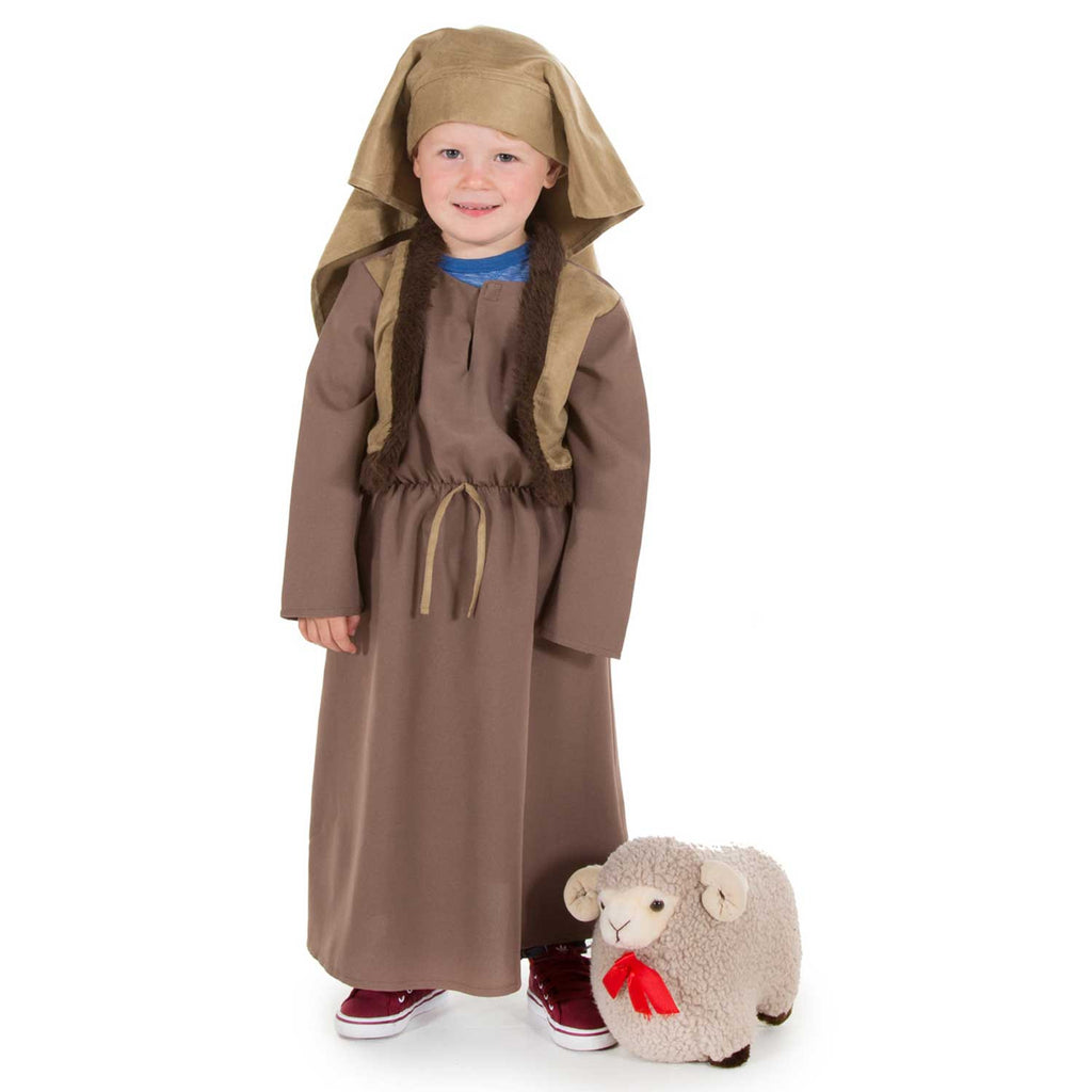 Children's Shepherd Nativity Costumes -Shepherd Costume - Light Brown / 3-5 years, Children's Costume - Time to Dress Up, Ayshea Elliott - 3