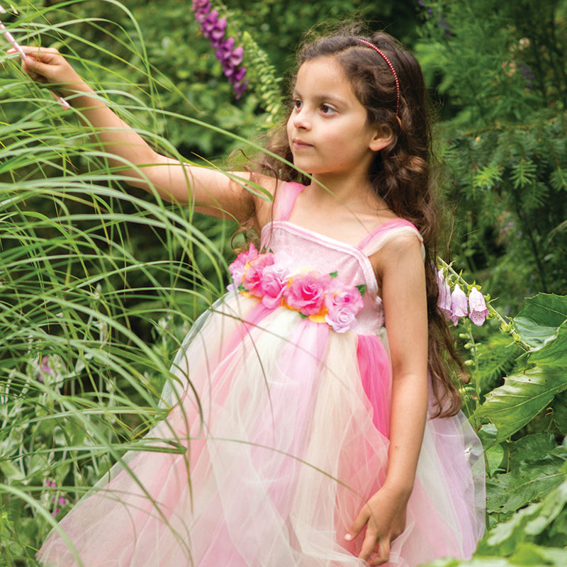 Children's Summer Fairy Dress With Wand , Fairy Dress, Children's Costume - Travis Designs