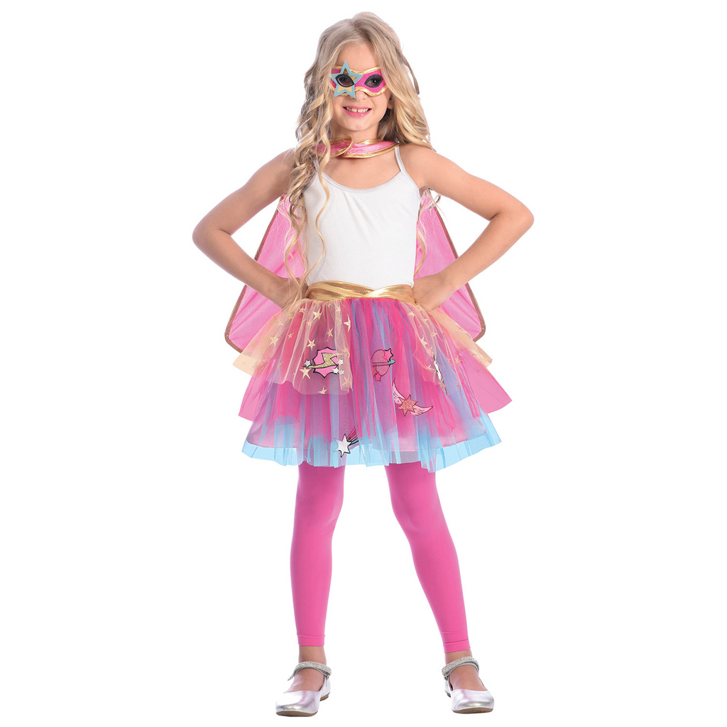 Superhero Tutu Set with Cape and Mask