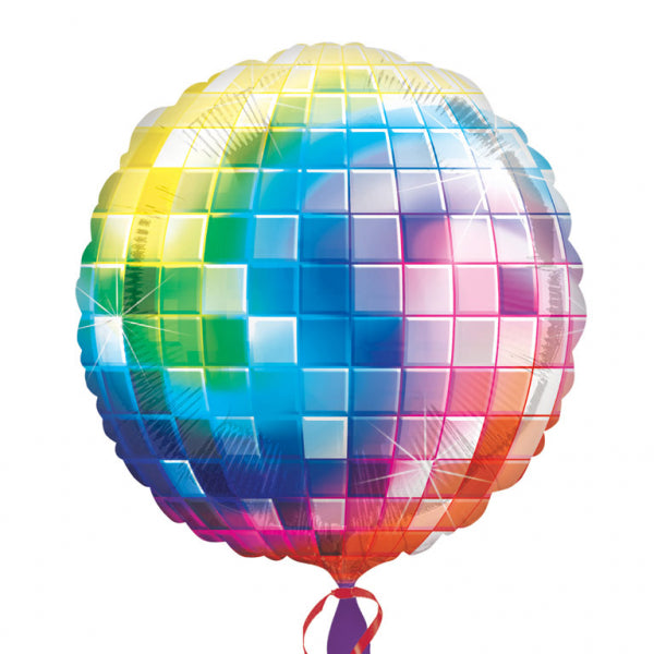Disco Glitterball Supershape Foil Balloon